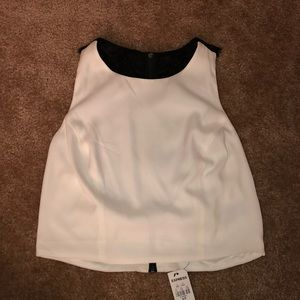 cream crop top